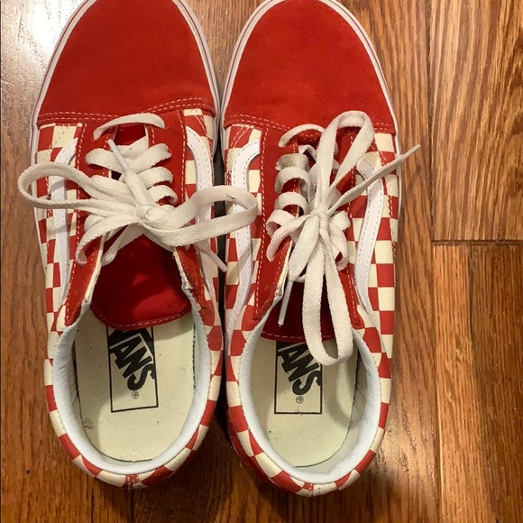 Shoes   Vans Old Skool Chex Skate Shoe